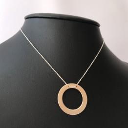 Naszyjnik duży ring srebro 925