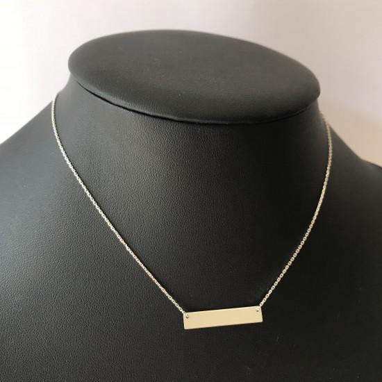 Naszyjnik blaszka srebro 925