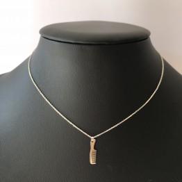 Naszyjnik grzebień srebro 925