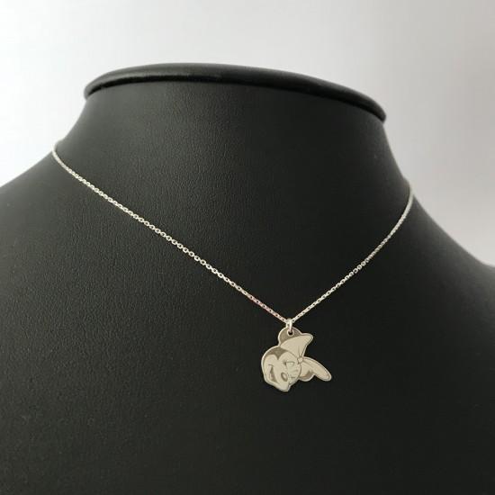 Naszyjnik Myszka Mini srebro 925
