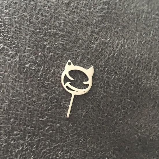 Klucz do otwierania karty sim DIABEŁEK srebro