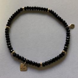 Bransoletka czarna Spiner 9KY