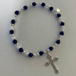 Bransoletka SILVER043 Krzyż grawerowany