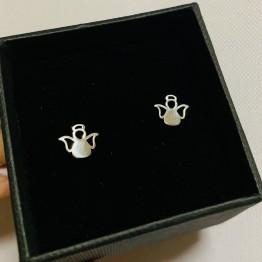 Kolczyki anioły 925 srebro