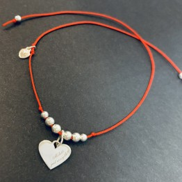 Bransoletka miłość jest wszystkim serce srebro 925