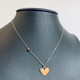 Naszyjnik serce z cyrkonią złoto 9ky