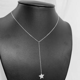 Naszyjnik z dospawaną gwiazdką na łańcuszku serbro 925