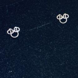 Kolczyki KIDS myszka mini z kokardą srebro 925