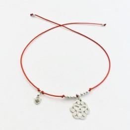 Bransoletka czerwona nitka Więzy Przyjażni srebro 925