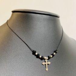 Naszyjnik nitka krzyż boho