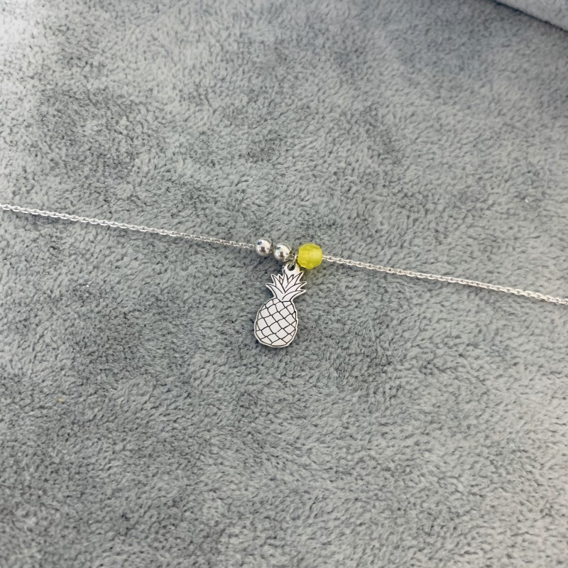 52070c87 Bransoletka na nogę z ananasem złoto 9ky - AS Jewellery