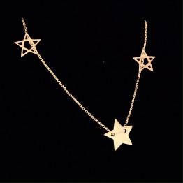 Naszyjnik trzy gwiazdki złoto 9ky