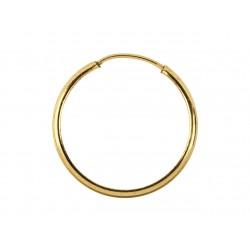 Kolczyki koła gładkie 24 mm domieszka złota