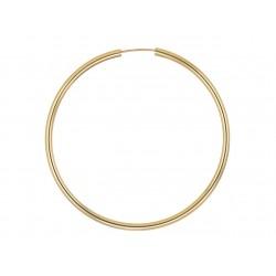 Kolczyki koła gładkie 50 mm domieszka złota