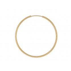 Kolczyki teksturowane koła 40 mm domieszka złota