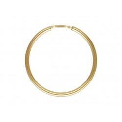 Kolczyki koła gładkie 20 mm domieszka złota 14 karat