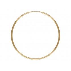 Kolczyki koła gładkie 38 mm domieszka złota