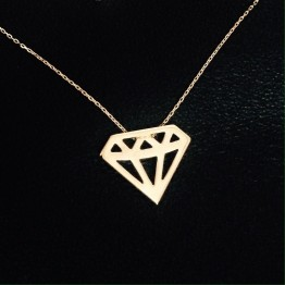 Naszyjnik Diament ze złota 9 karat