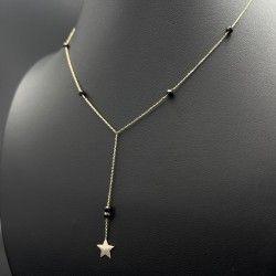 Naszyjnik gwiazda zwisająca kamienie spinel