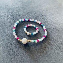 Komplet Bransoletka z pierścionkiem KolorTwist
