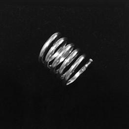 Pierścionek spirala ze srebra 925