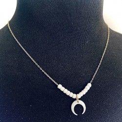 Naszyjnik z rogiem obfitości z masy perłowej