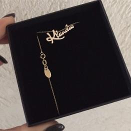 Naszyjnik z dowolnym napisem ze złota 9 Karat