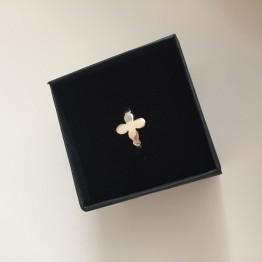 Pierścionek oxalis ze złota 9 karat